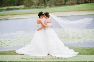 Andrea Sproxton Photographer captured Em and Naomi's commitment ceremony