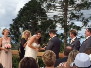 A fun Flaxton Garden ceremony
