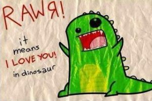i love you in dinosaur