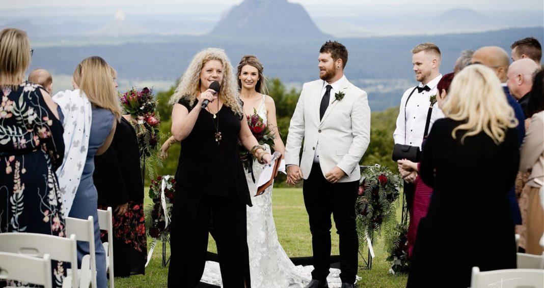Look at that view! Wedding Celebrant Hinterland Sunshine Coast Mountains